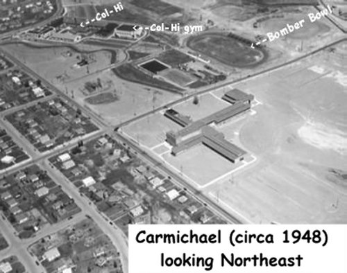 Carmichael Jr. High School 1948 arial